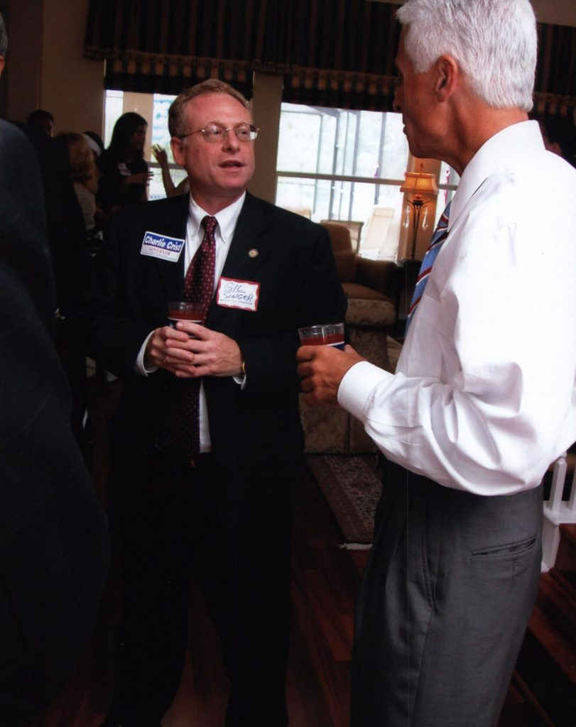 Gil Singer with Charlie Crist