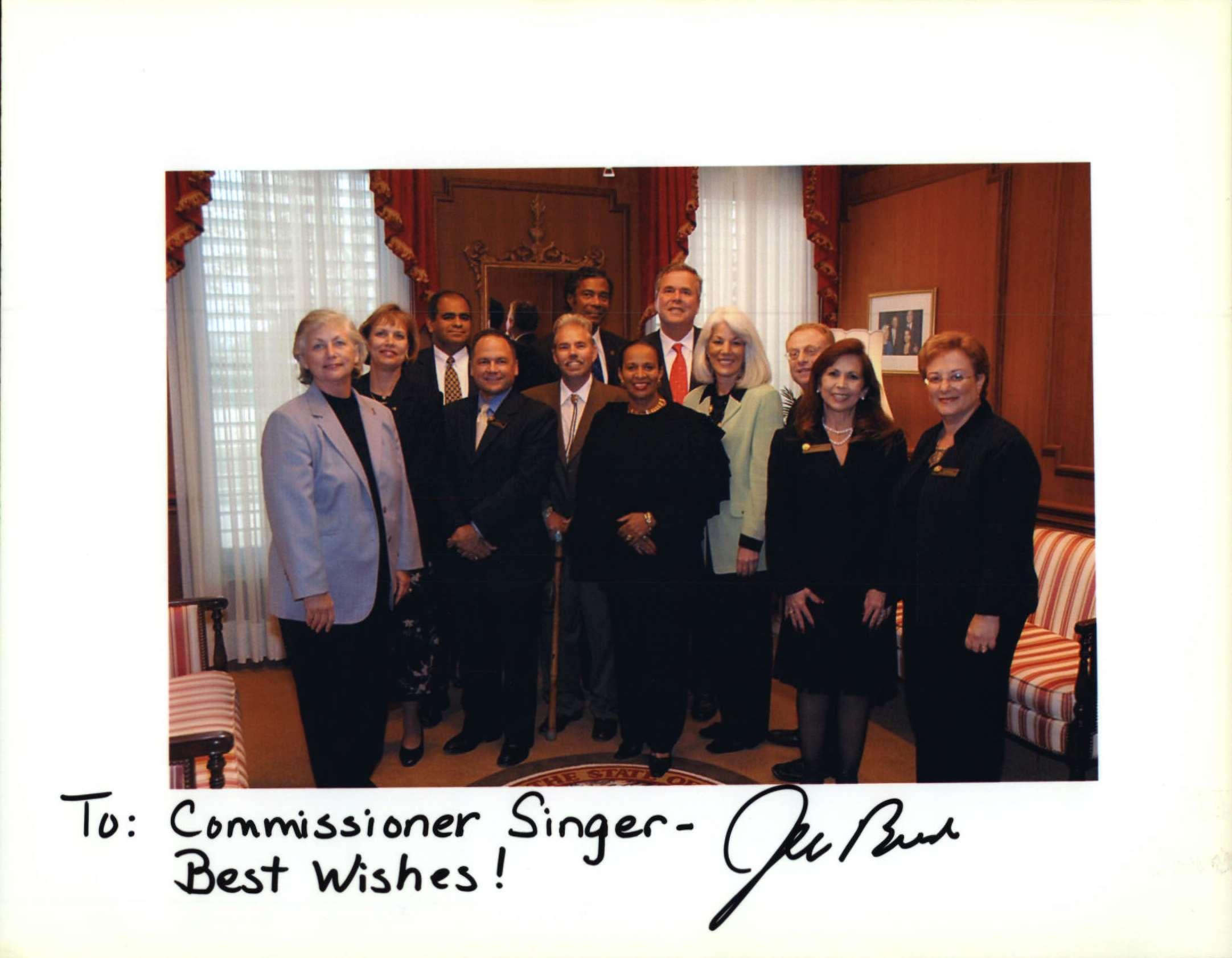 Jeb Bush to Commissioner Singer