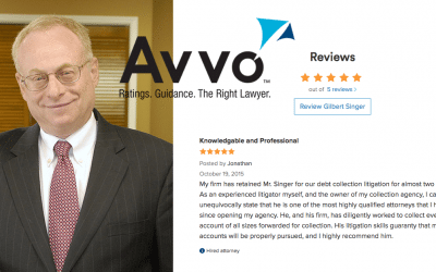Avvo Review, Gil Singer Collection Attorney