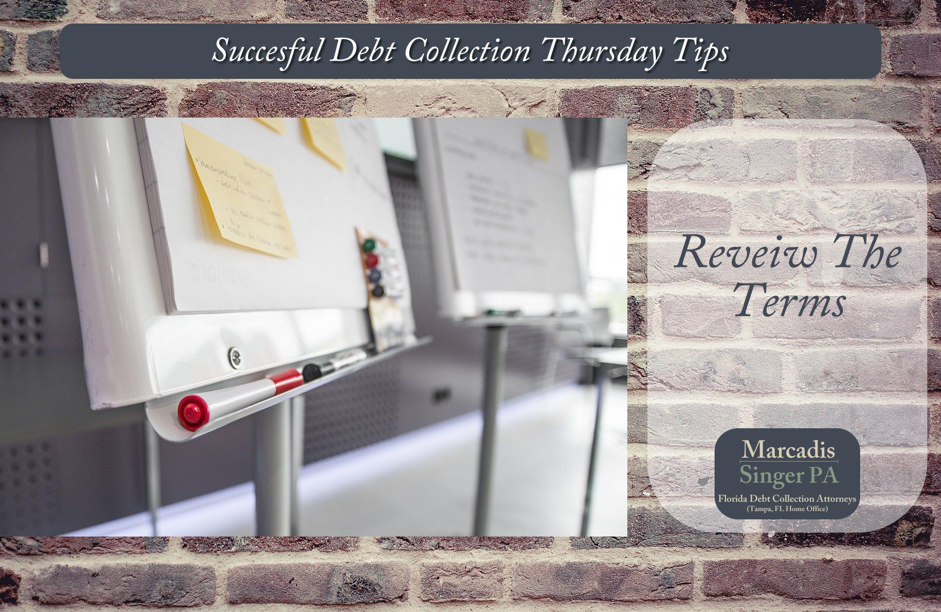Thursday Debt Collection Tips  (#8 In A Series)