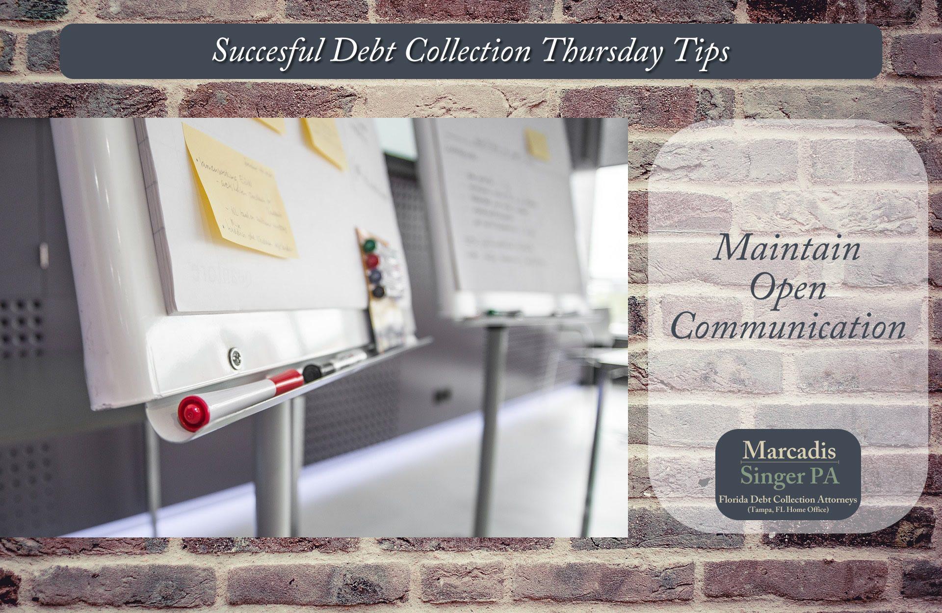 Thursday Debt Collection Tips  (#9 In A Series)