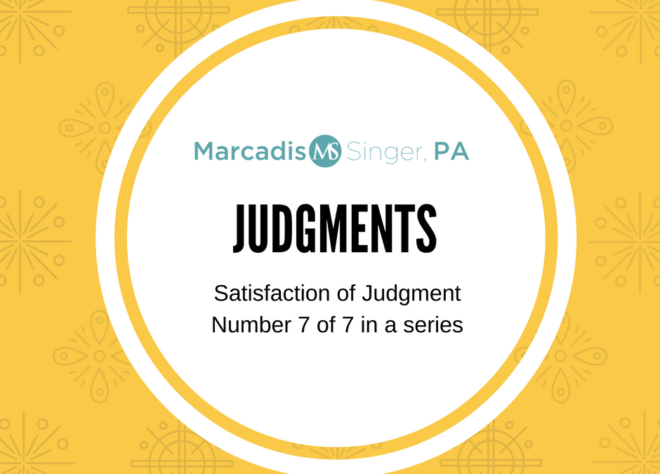 Judgments – When The Judgment Is Paid