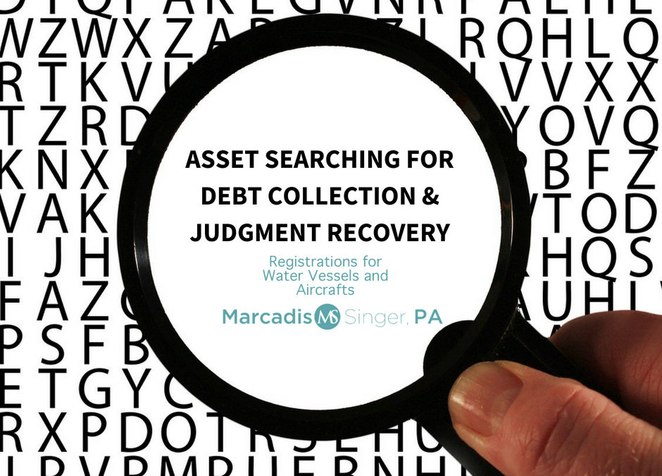 Asset Searching & Debt Collection  Watercraft, Jet, Luxury Car Registrations