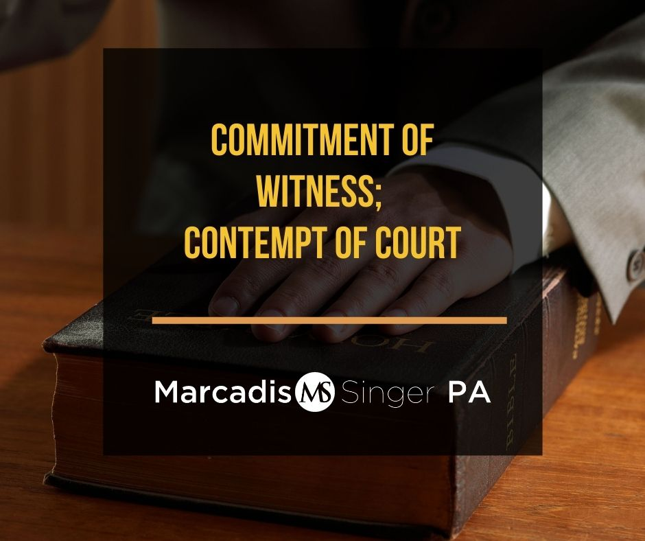 Commitment of witness