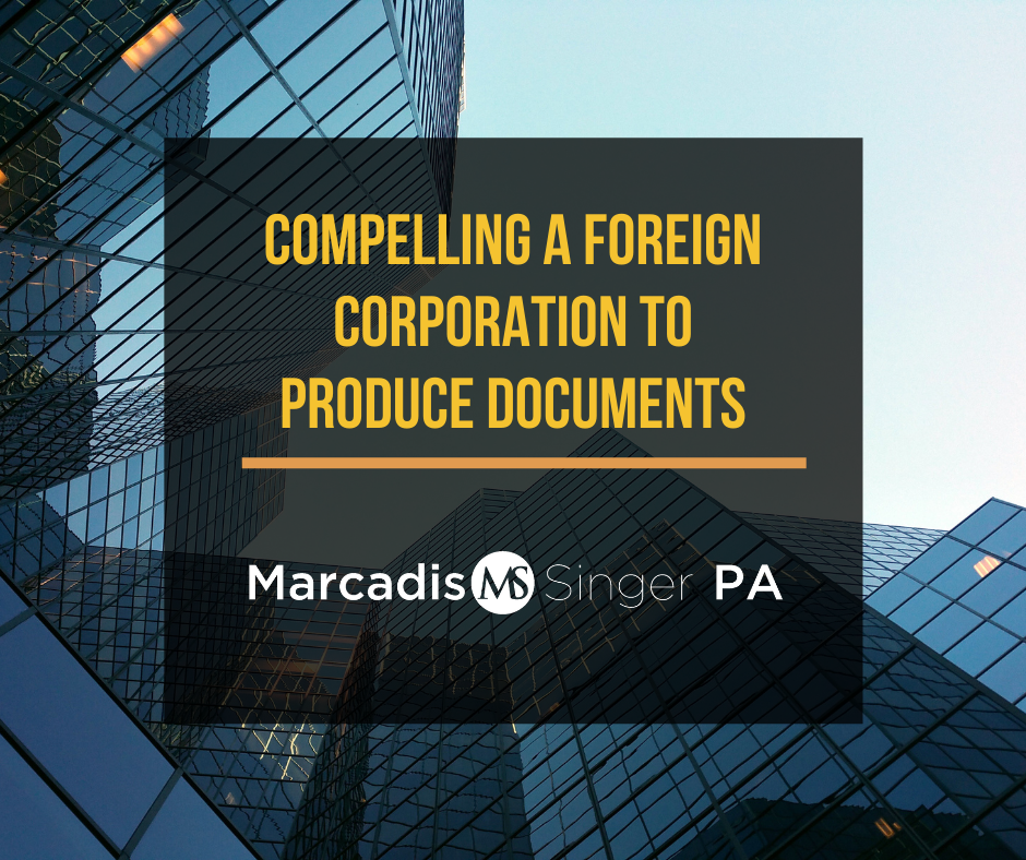 Compelling a foreign corporation to produce documents