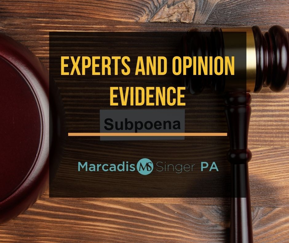 Experts and opinion evidence