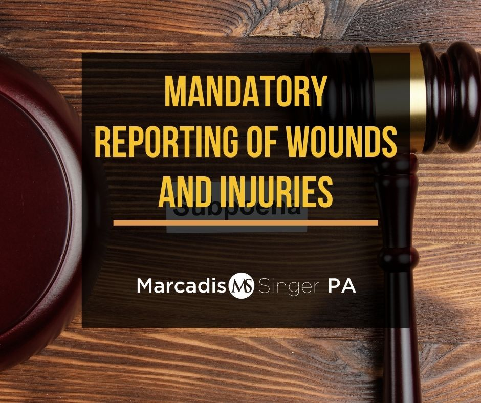 Mandatory reporting of wounds and injuries