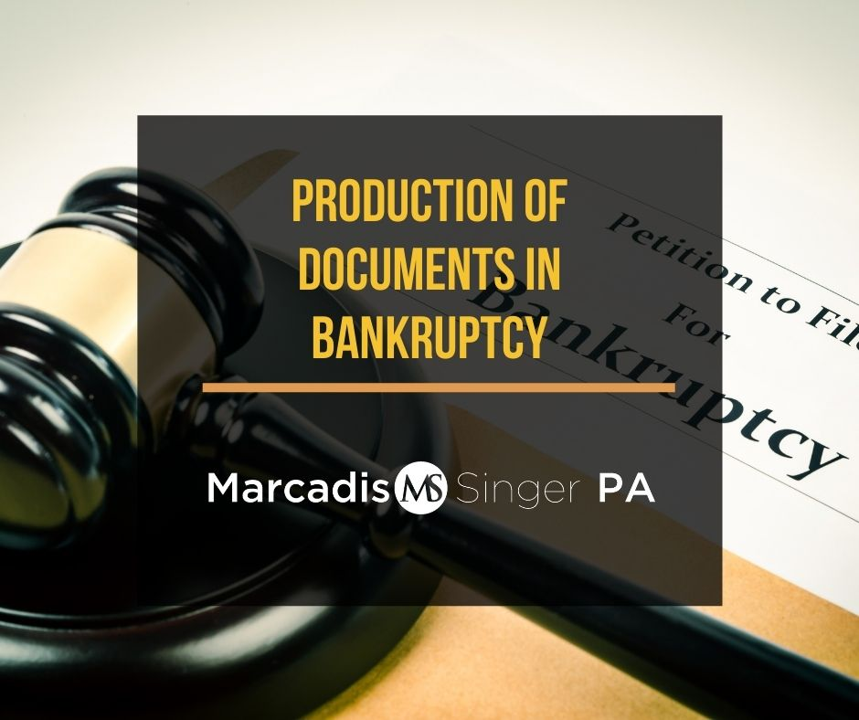 Production of documents in bankruptcy