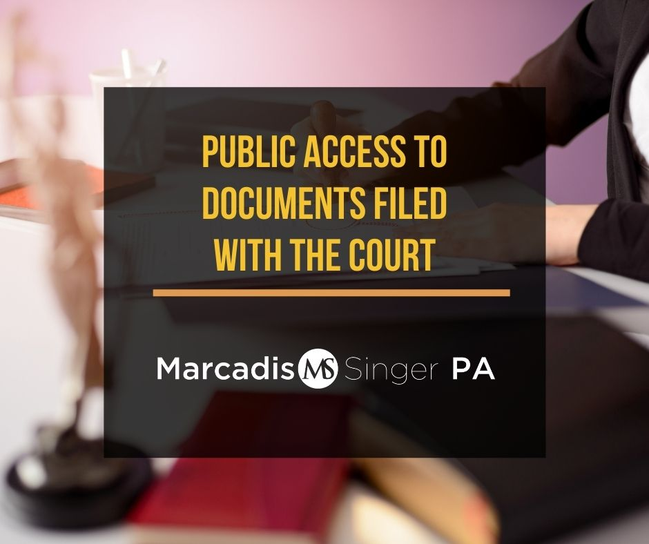 Public access to documents filed with the court