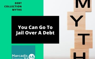 Myths #8 – You Can Go To Jail Over A Debt