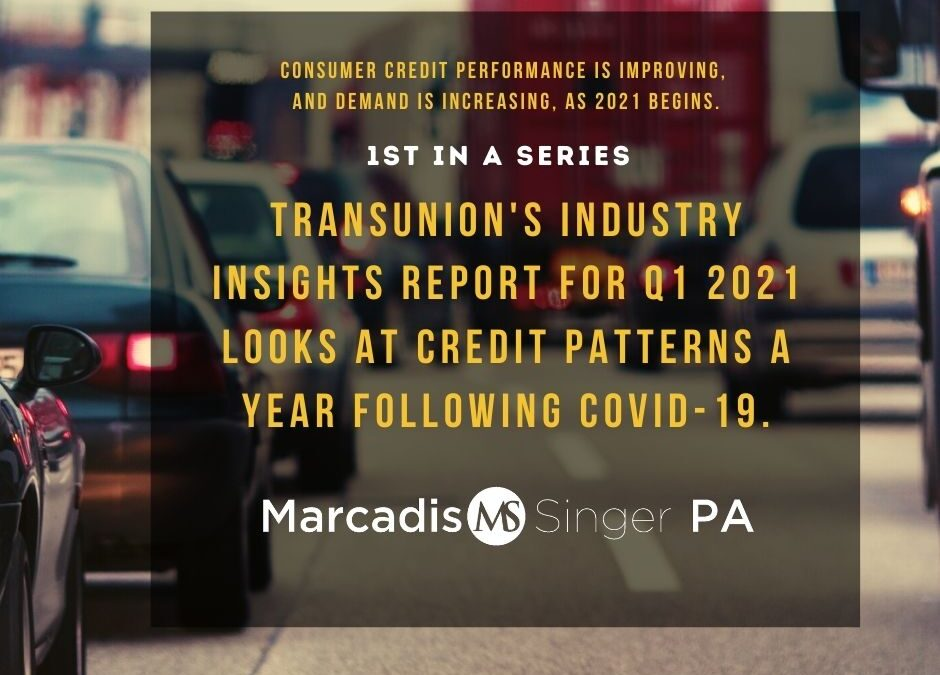 Consumer credit performance is improving - 1
